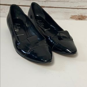 Butter Black Pointed Flats with Bow